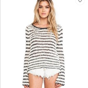 Free People Downy striped pullover